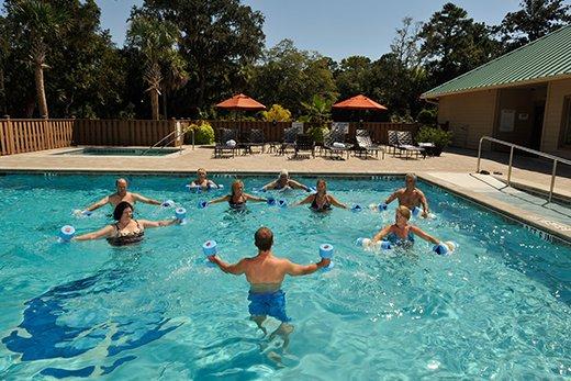 Hilton Head Health Pool Fitness Class