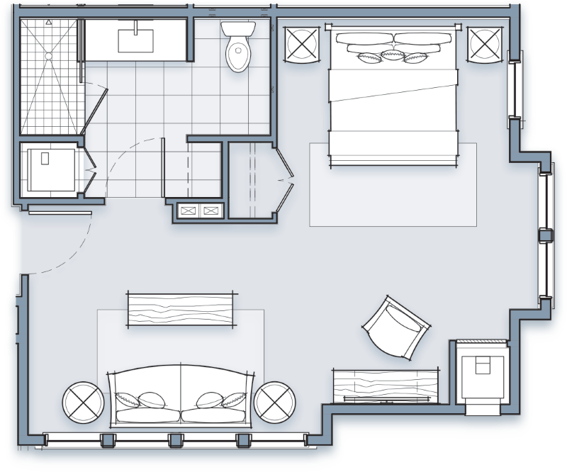 Signature King Room Layout
