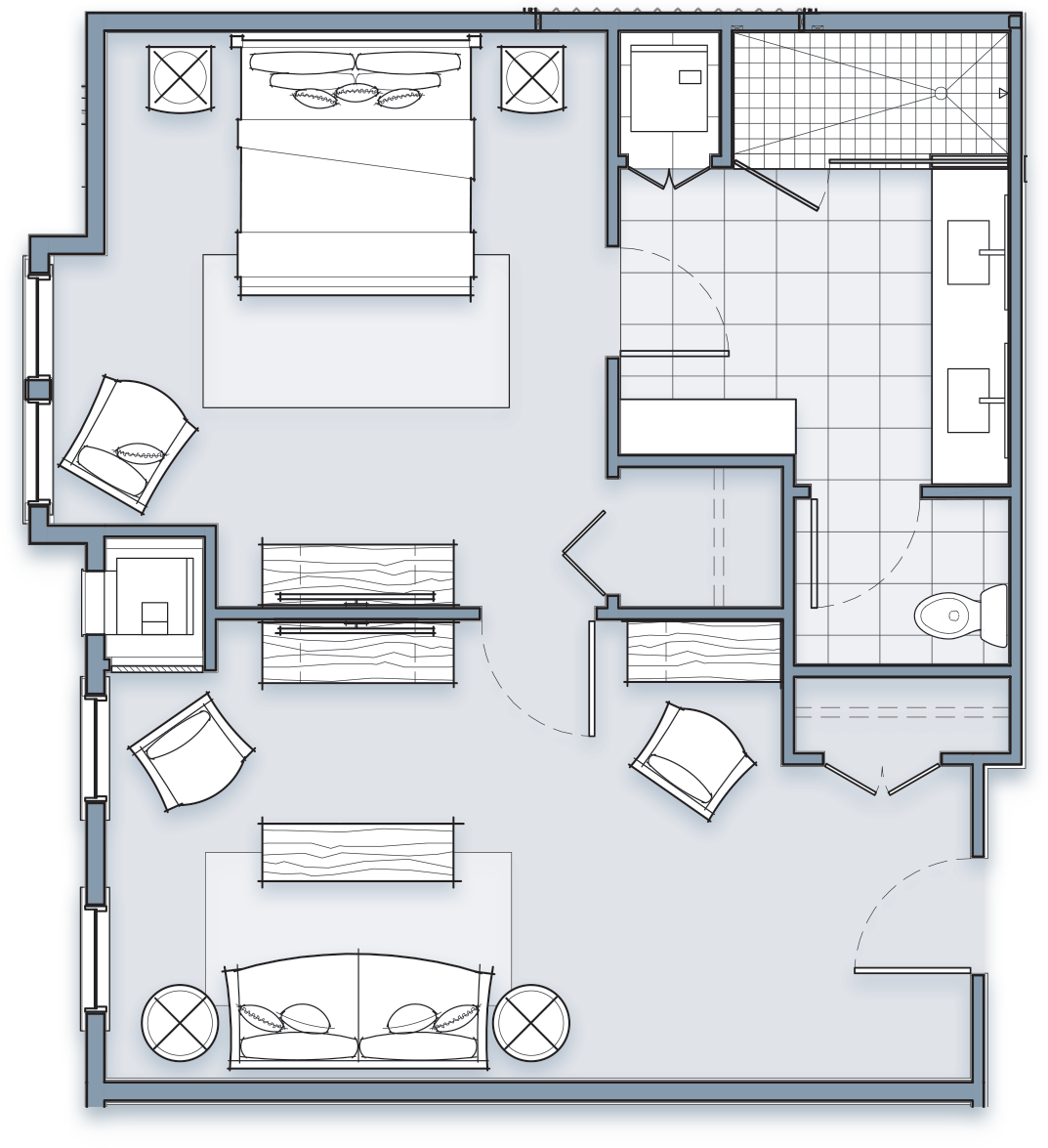 Sweetgrass Suite Room Layout